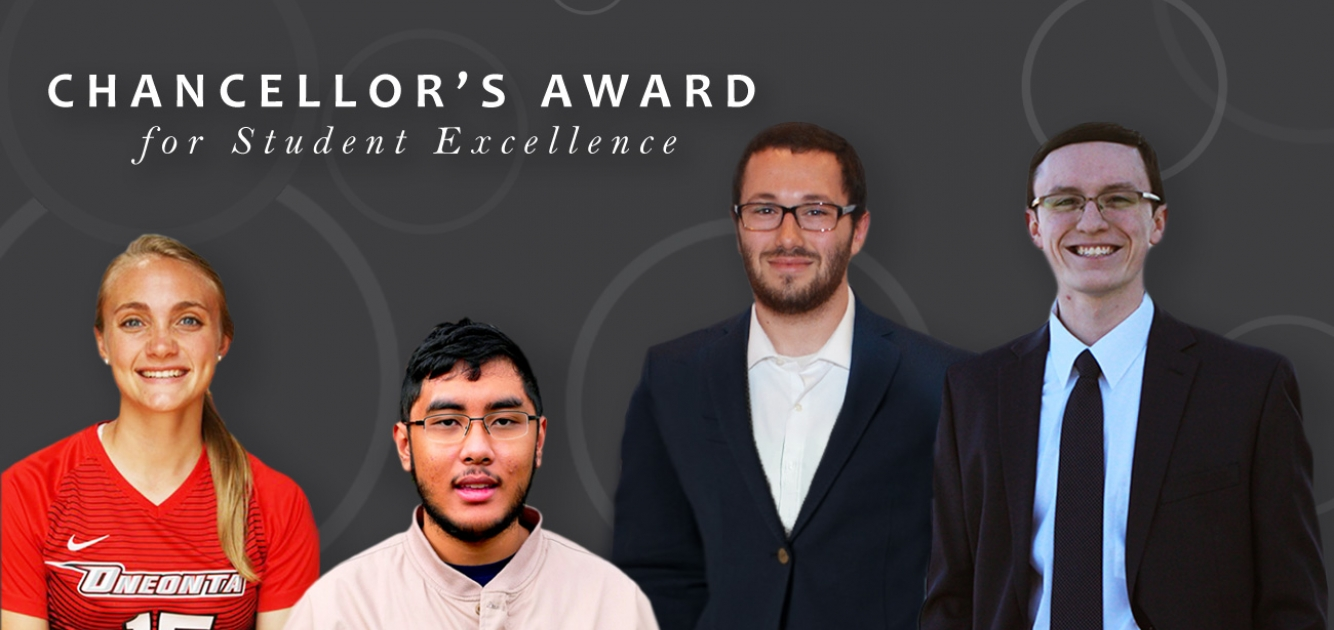 2018 Chancellor's Award for Student Excellence recipients