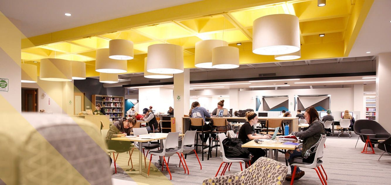 Newly renovated library first floor