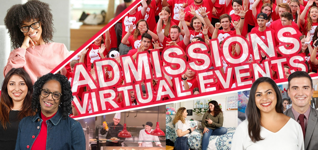 Admissions Virtual Events collage