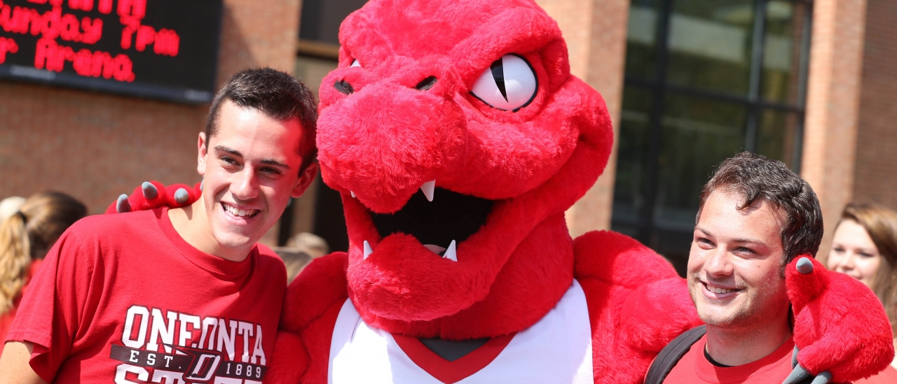 Red the Dragon and two students