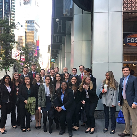Business students in New York City