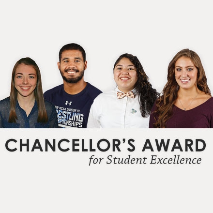 Four Chancellor's Award for Student Excellence winners