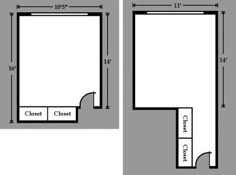 Hulbert Hall room floor plan