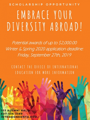Embrace your diversity abroad apply for scholarship