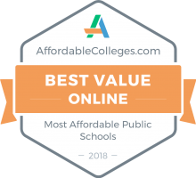 Affordable Colleges 2018 badge