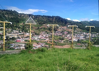 Power lines in Guatemala.