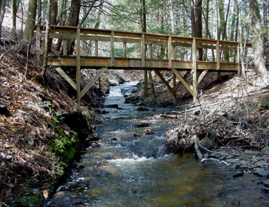 Footbridge at Greenwoods Conservancy