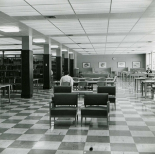 The new Library's Reading Room, 1960