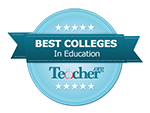 Best Colleges in Education badge
