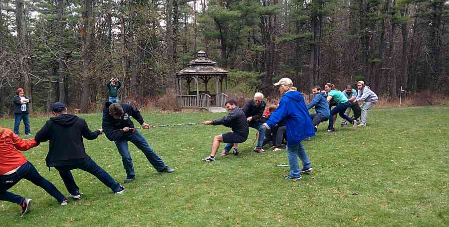 Meteorologists vs geologists tug of war at our annual department picnic