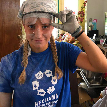 SUNY Oneonta student Seaver Lipshie helps with Puerto Rico hurricane recovery efforts.
