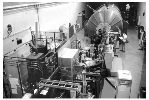 Figure 8: Half of the large particle accelerator at Purdue University, with which the Mammoth Cave samples were analyzed.