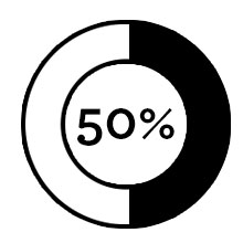 50% of Courses Icon