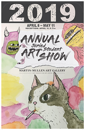 Annual Student Show poster 2019