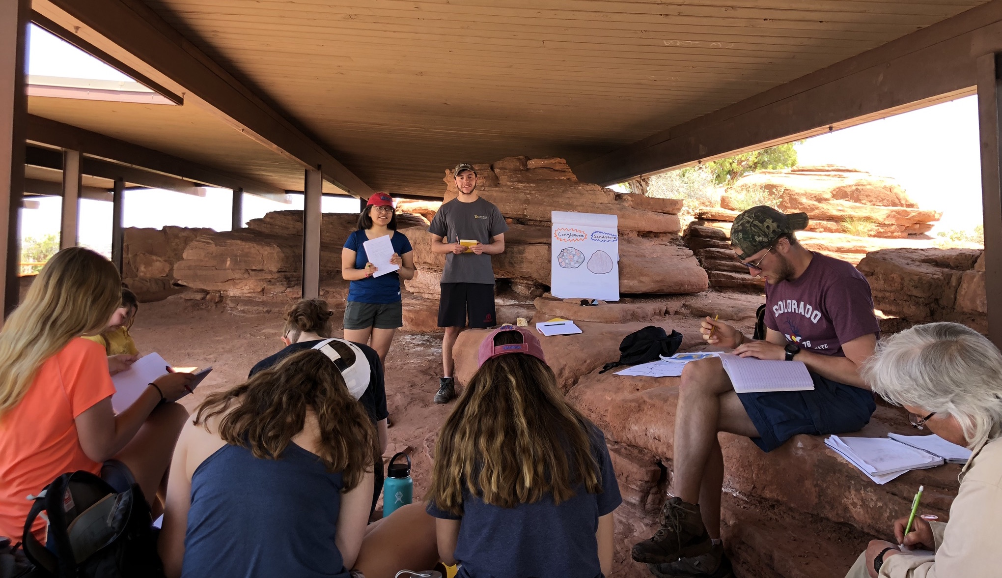 Students on the Ecology and Geology of the Rocky Mountain Region Field Trip (Dead Horse Point State Park, Utah) 2019