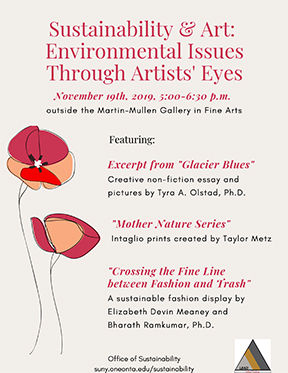 Poster for Sustainability and Art Event, 11/19/19