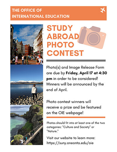 Study Abroad Photo Contest rules.