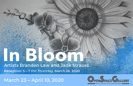 "student poster for ""In Bloom"" online art show"