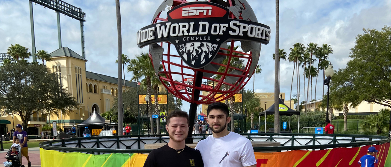 Sport Management students visit ESPN Wide World of Sports Complex after working at Pro Bowl 2020