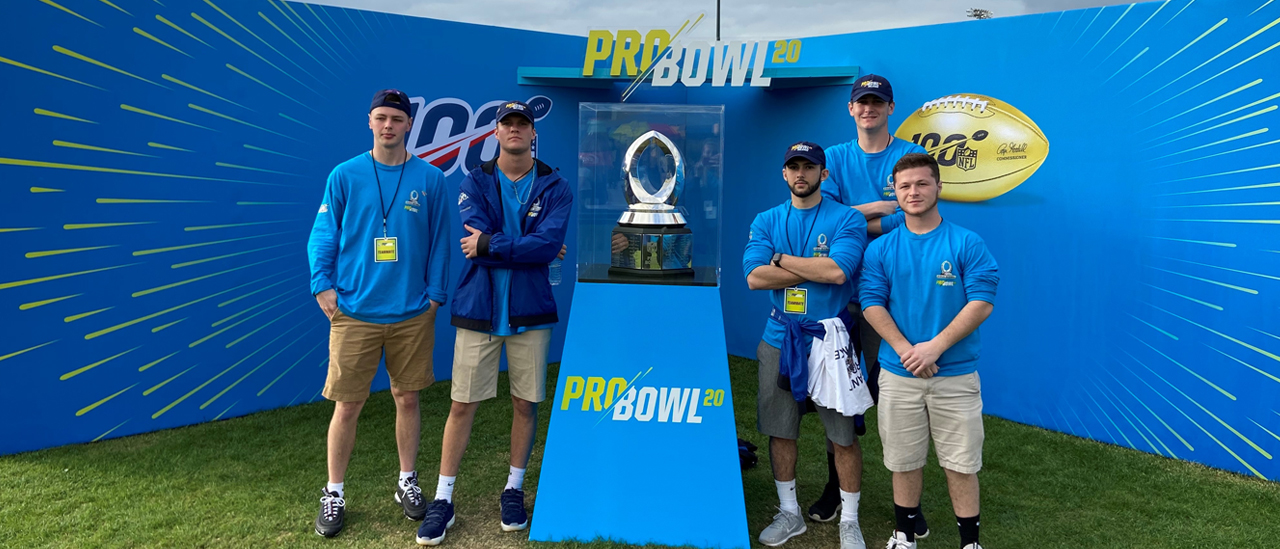 Sport Management students working at Pro Bowl 2020